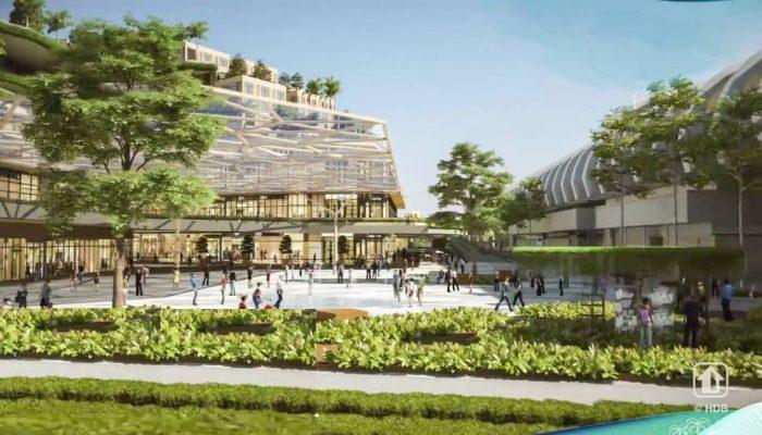 Pasir Ris 8 Artist's Impression . Concept of Town Plaza