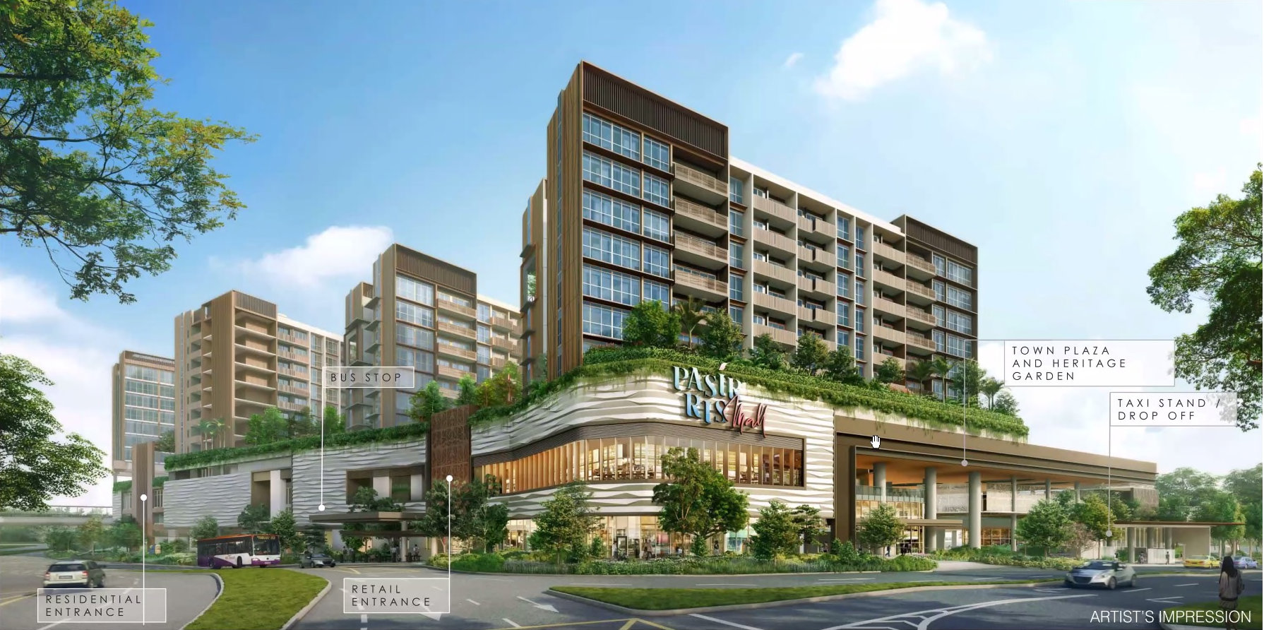 Pasir Ris 8 Development . Street View