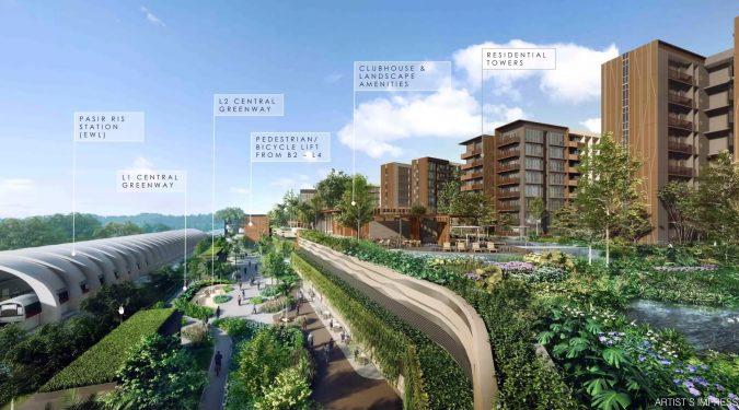 Pasir Ris 8 Integrated Development with MRT Station