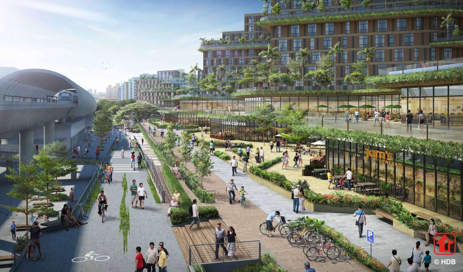 Pasir Ris 8 Mixed Development . Pasir Ris Central Greenway