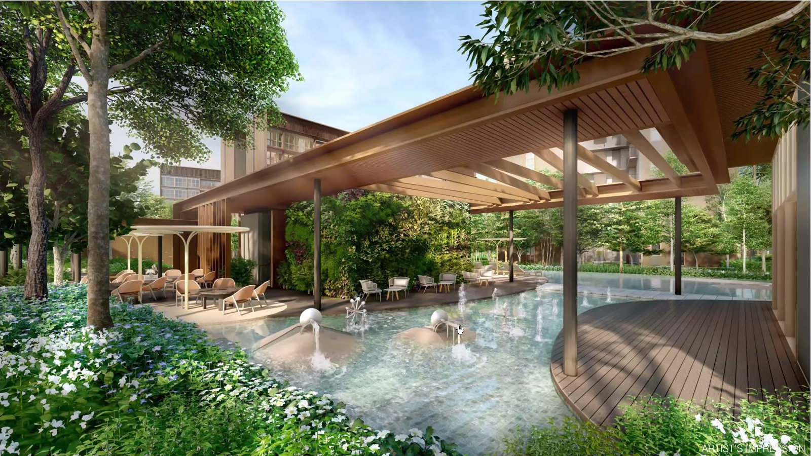 Pasir Ris 8 Showflat . Adventure Pool and Grill Area