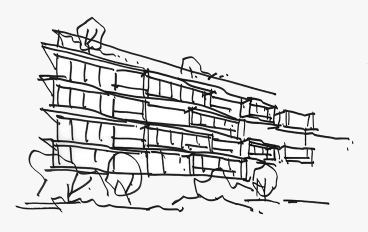 Peak Residence Singapore . Concept Sketch