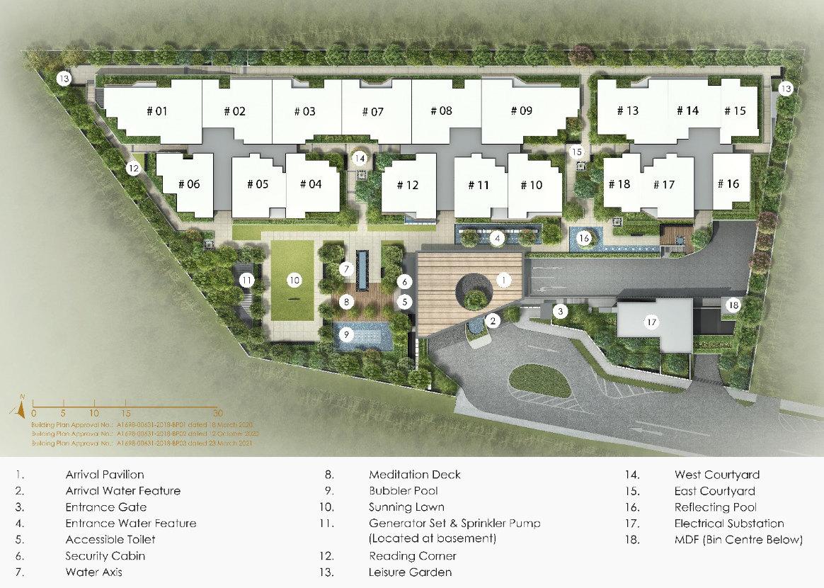 Peak Residence Site Plan . Level 1