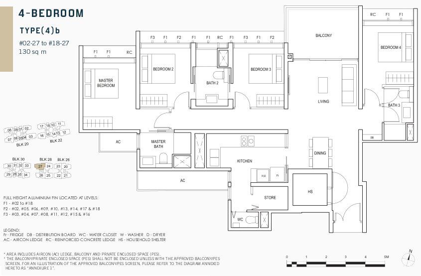 Penrose Condo Floor Plans . 4 Bedroom Type (4)b