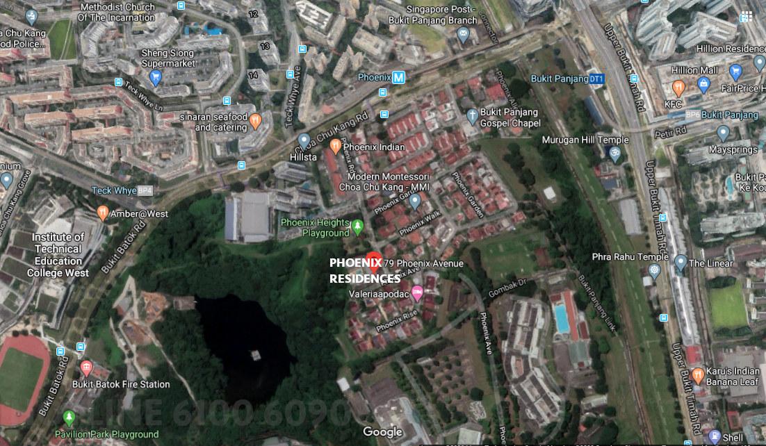 Phoenix Residences Map View . Amenities & Neighbourhood