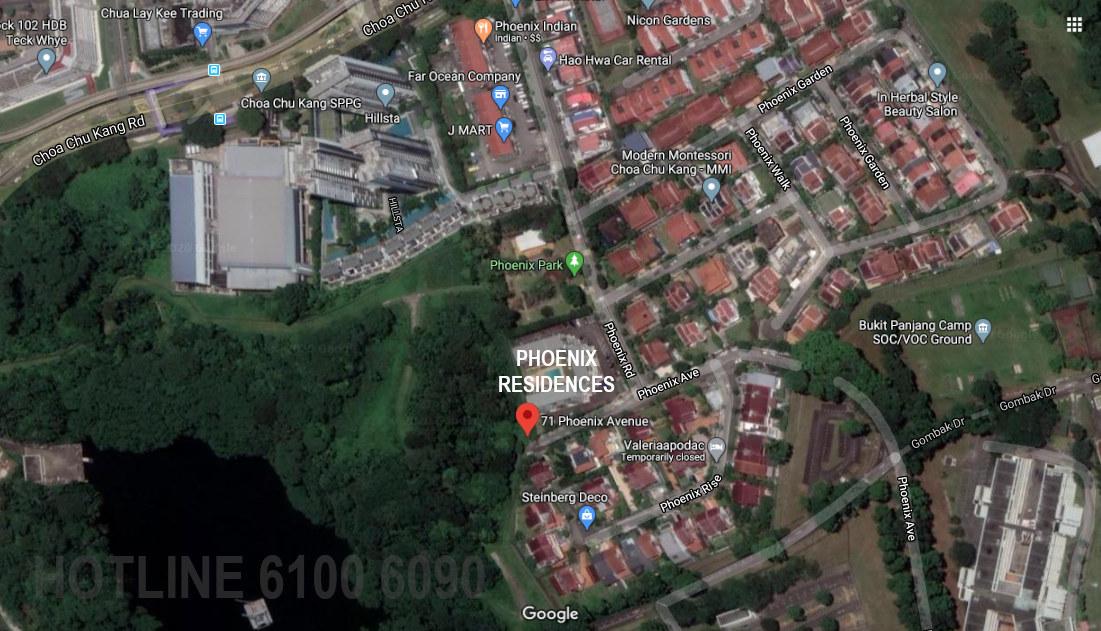 Phoenix Residences Site Location . Google Map