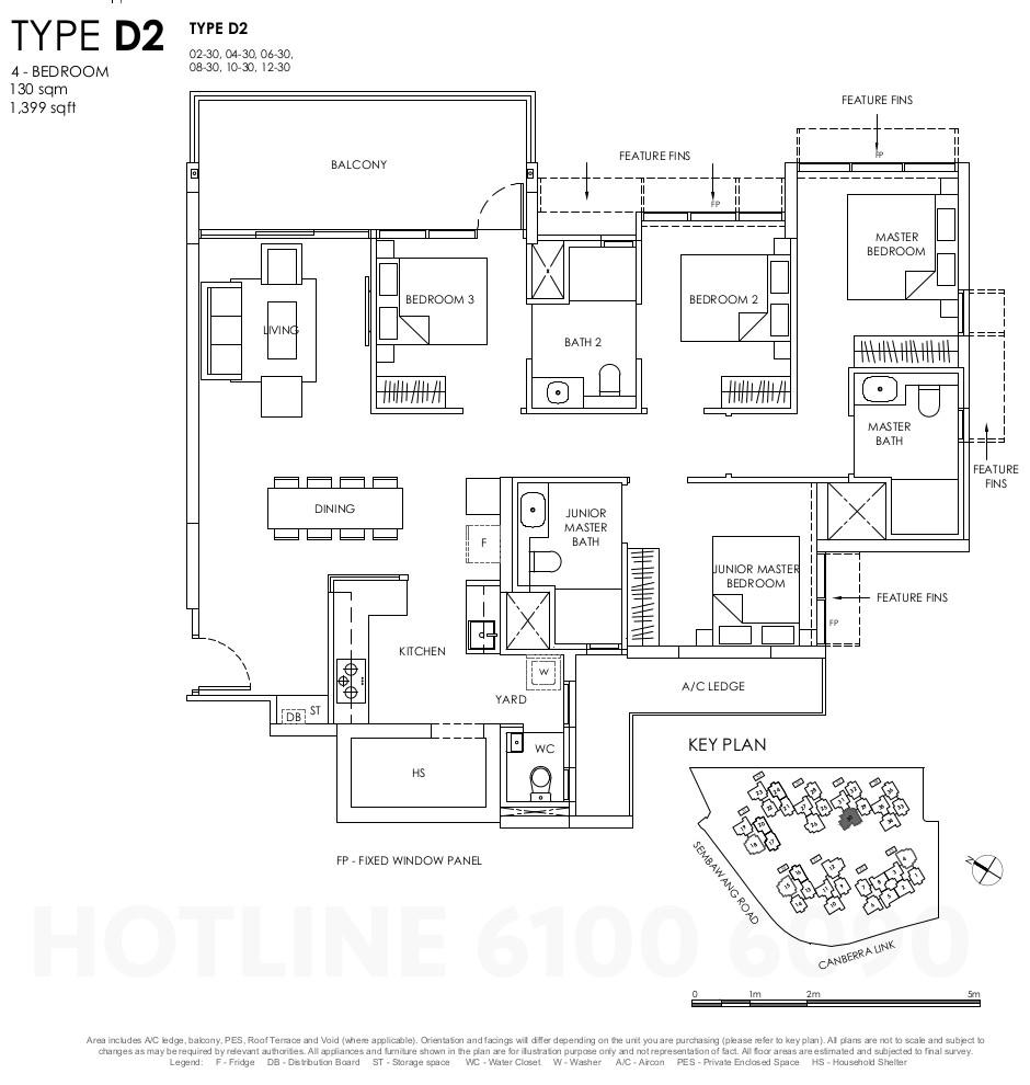 Provence Residence Floor Plan . 4BR Type D2