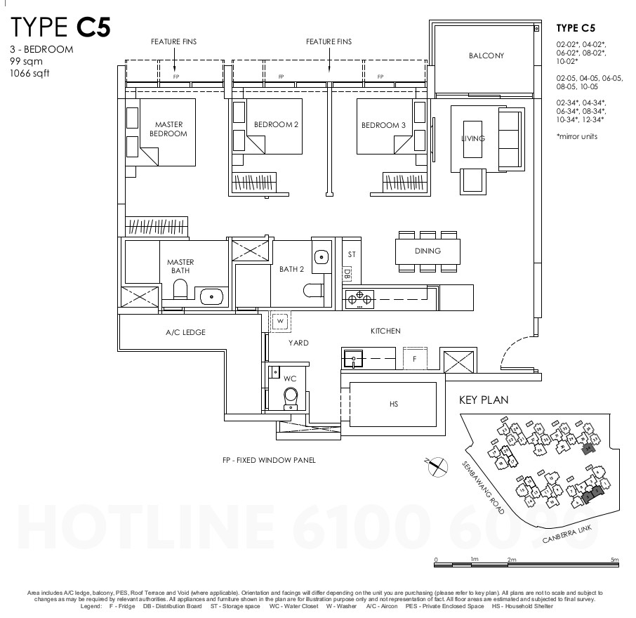 Provence Residence Floor Plans . 3BR Type C5