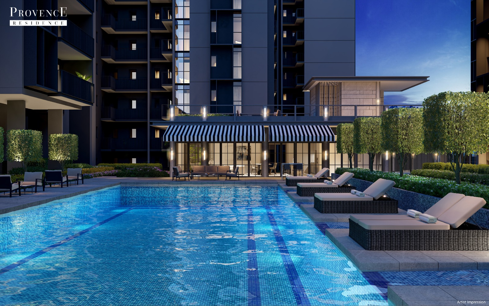 Provence Residences EC . Pool View