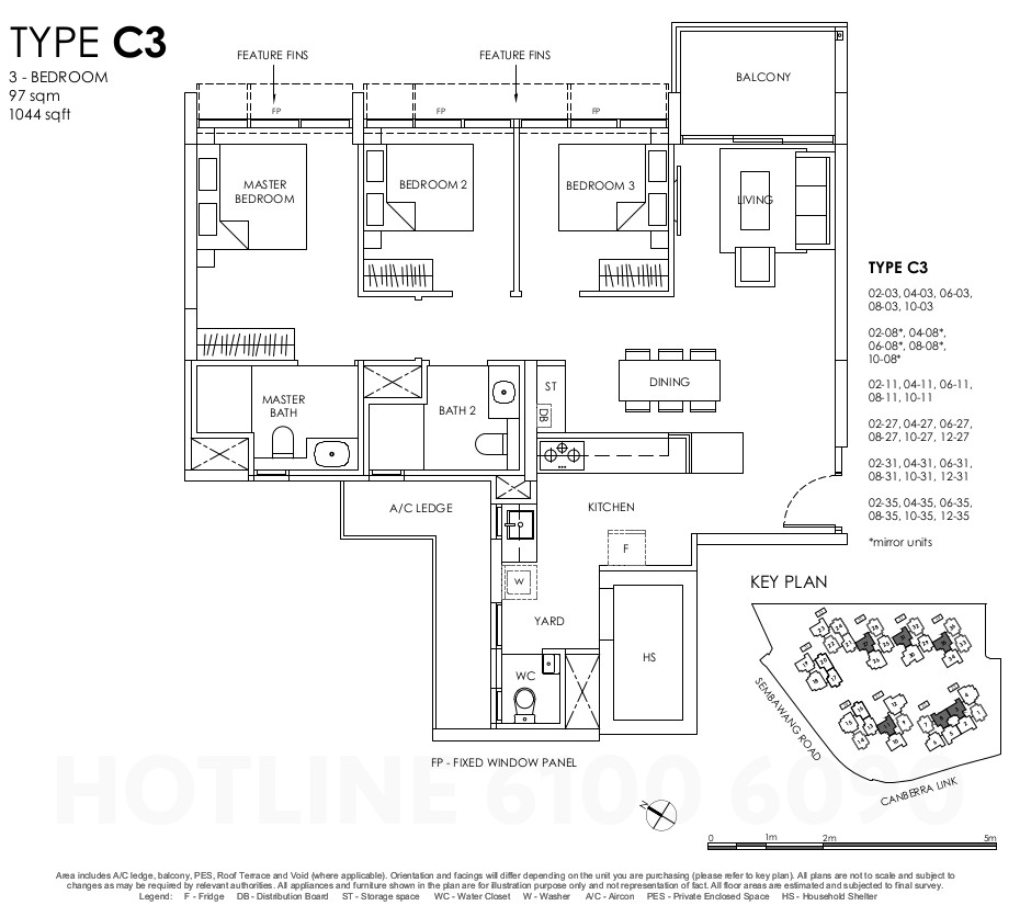 Provence Residences Floor Plan . 3BR Type C3