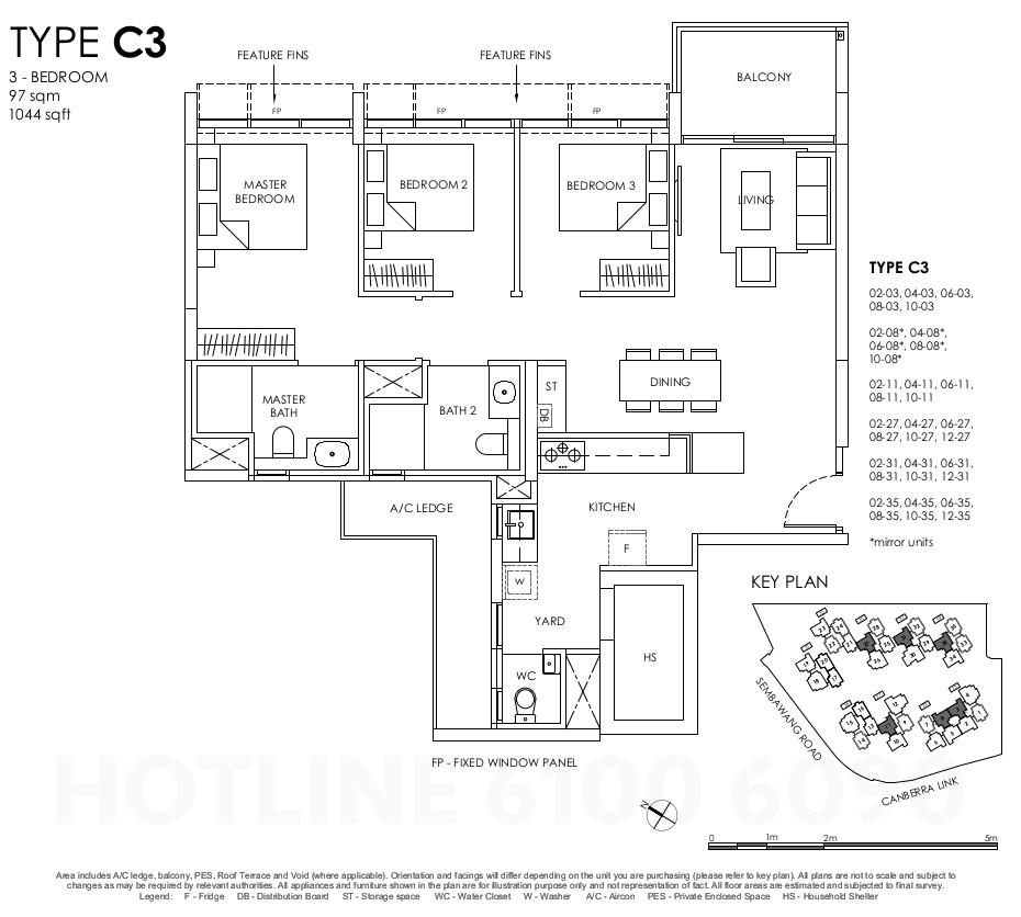 Provence Residences Floor Plan . 3BR Type C3