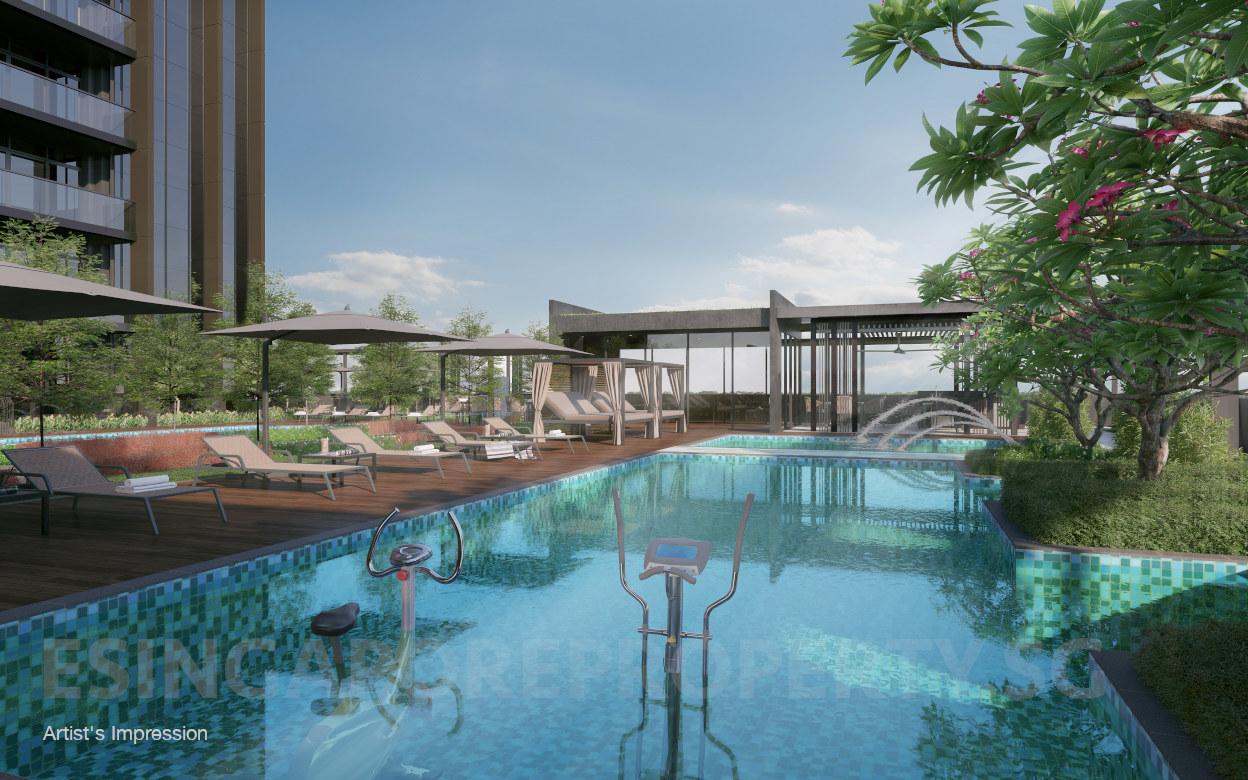 Pullman Residences Newton . View to Club Lounge