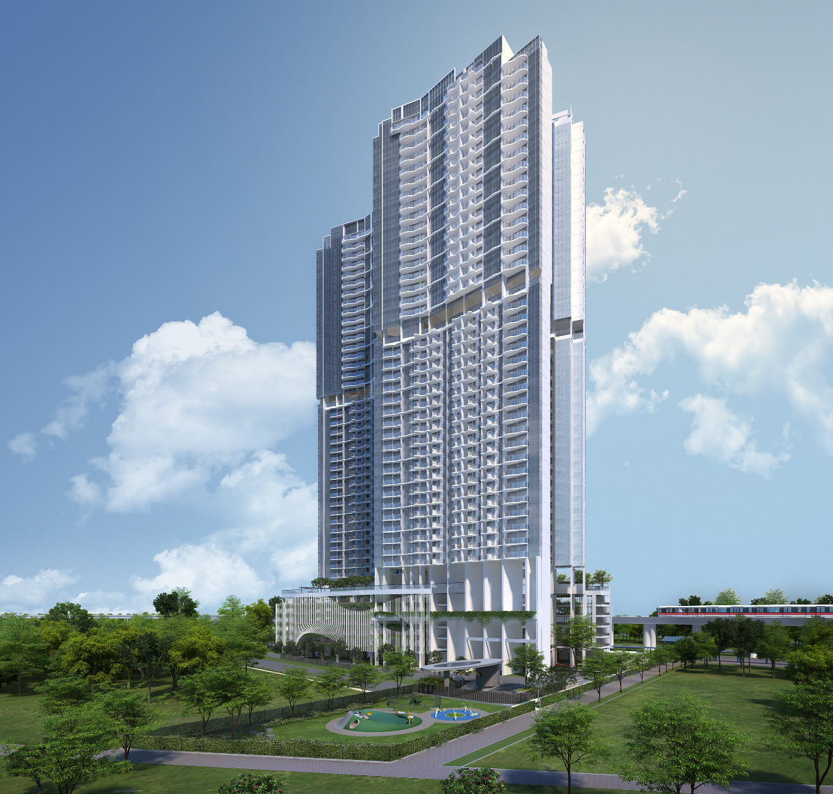 Queens Peak by MCC Land . Developer for Provence Residences Showflat