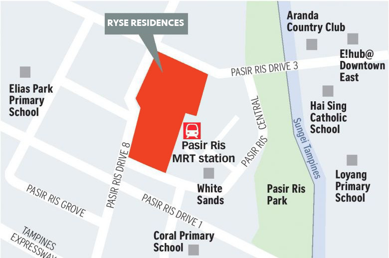 The Ryse Residence Location Plan
