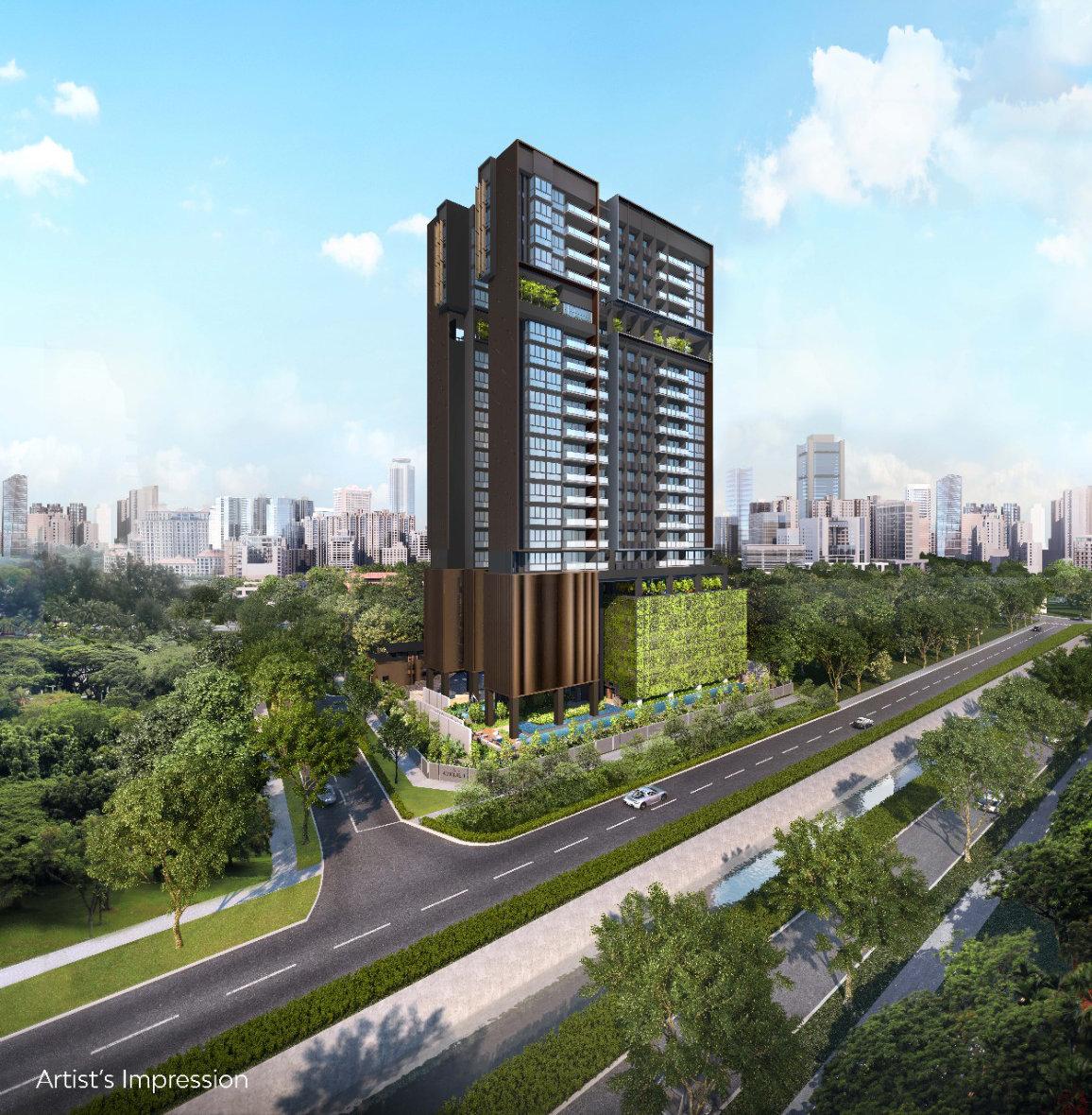 Artist's Impression . The Atelier Condominium in Singapore
