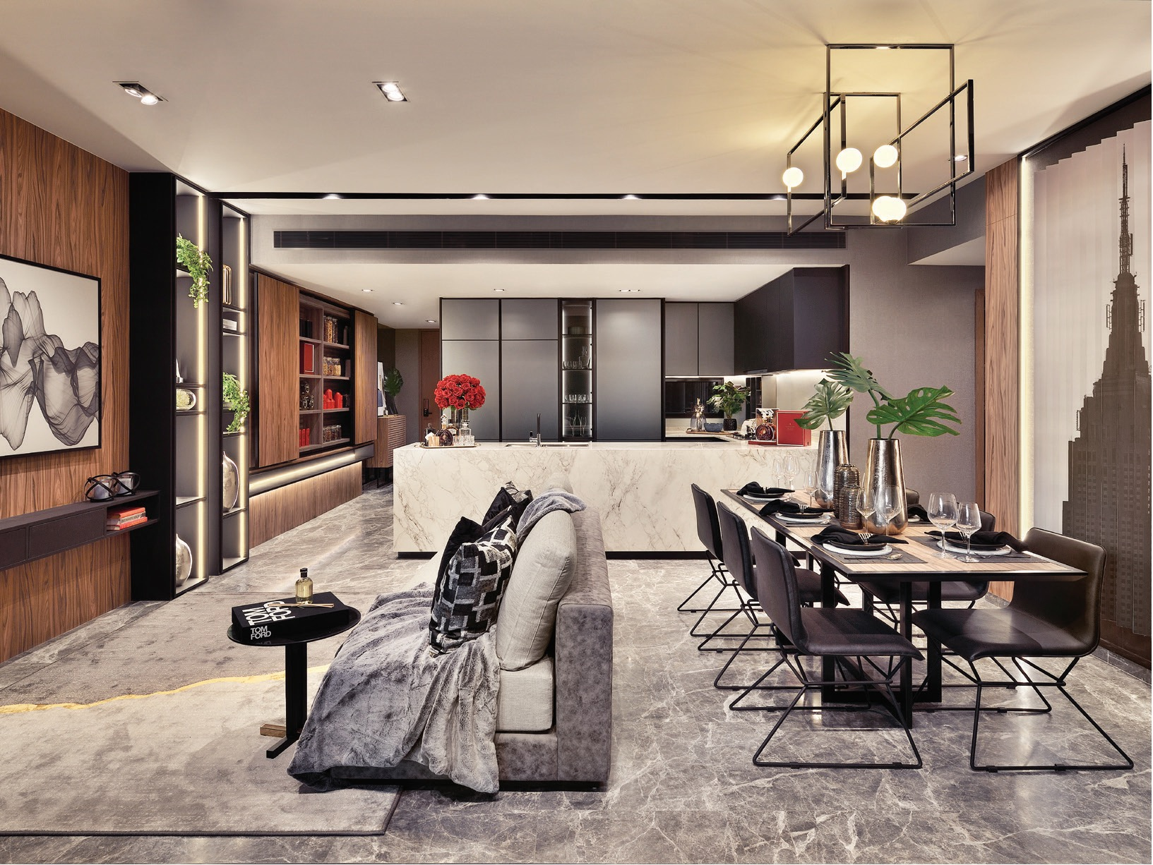 Artist's Impression . The Atelier Showflat . Living & Dining
