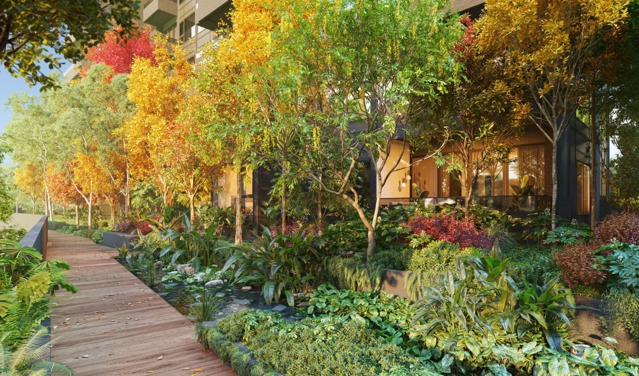 Artist's Impression . The Autumn Wood at Midtown Modern at Bugis . Garden Homes