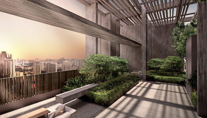 The Avenir Condo . Roof Garden . City Skyline View