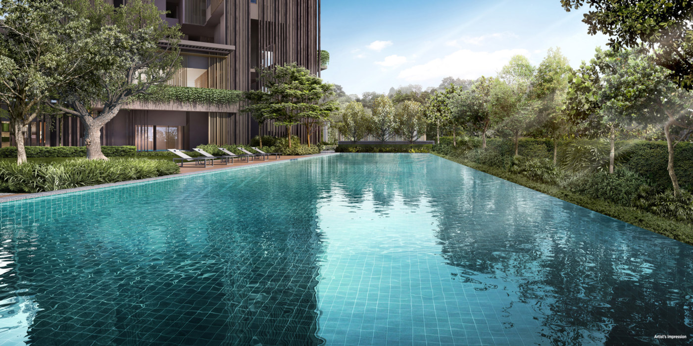 The Avenir Condominium . Tower and 50M Lap Pool