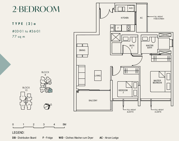 The Avenir Floor Plans . 2 Bedroom Type (2)a