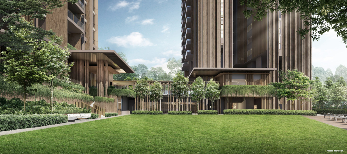 The Avenir Condo by Guocoland & Hong Leong . Great Lawn
