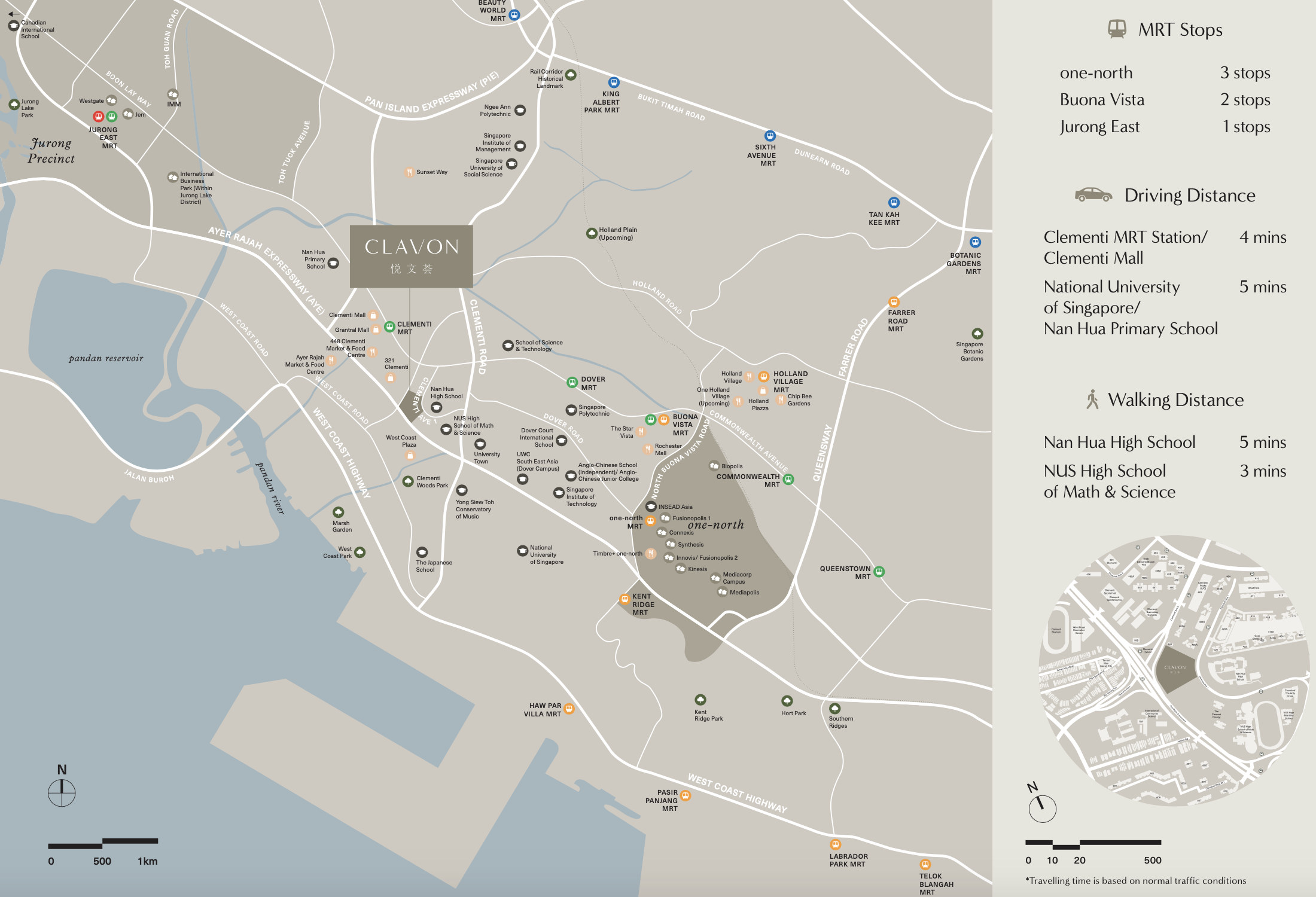 The Clavon Location Map
