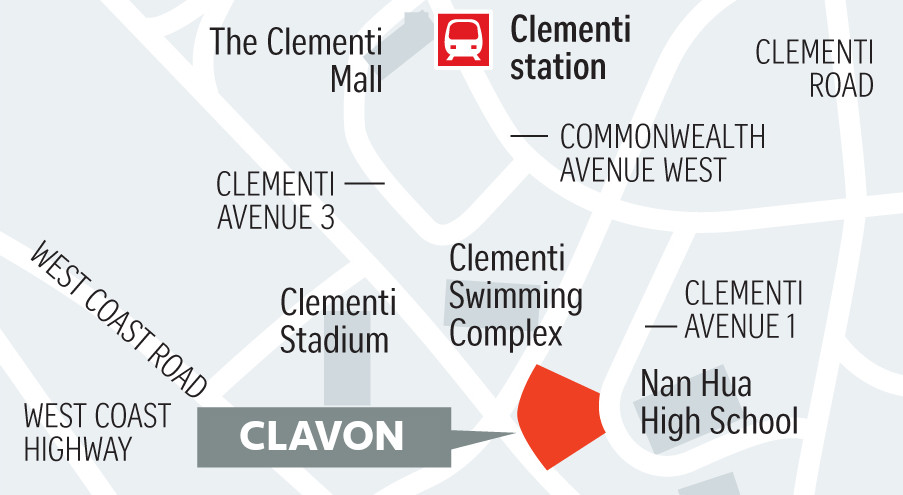 The Clavon Location Plan . Not To Scale