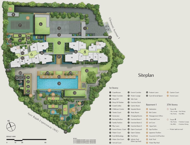 The Clavon Site Plan Layout