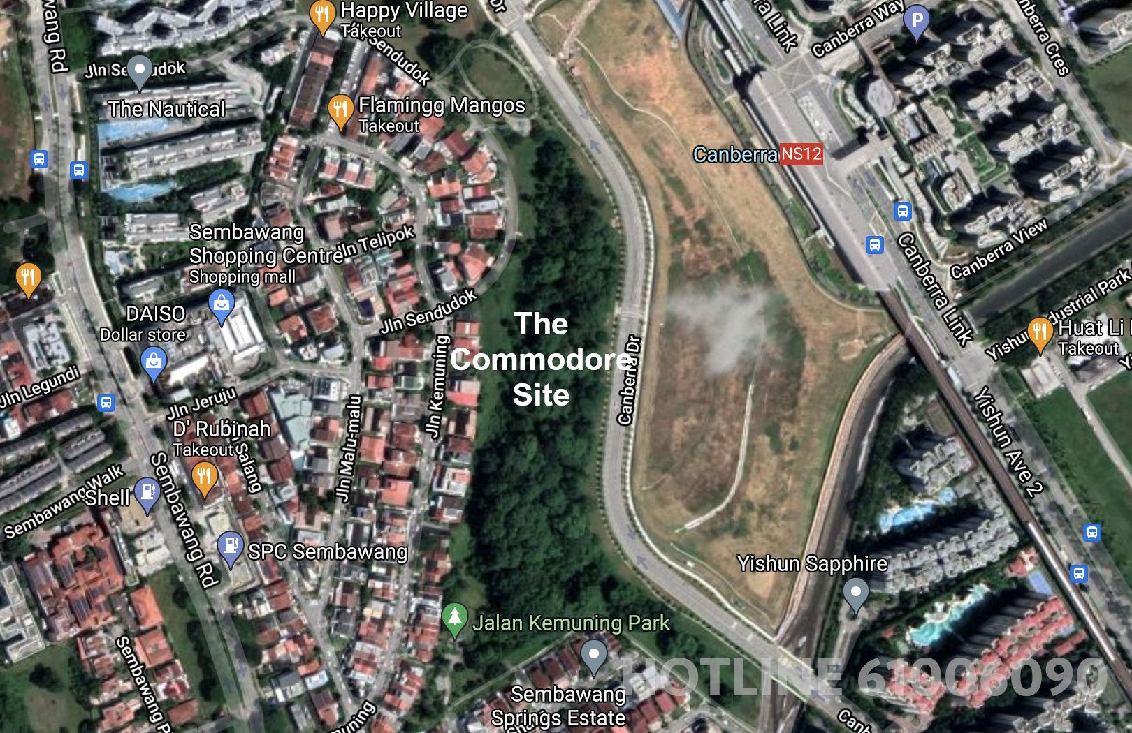 The Commodore Site . Location Map