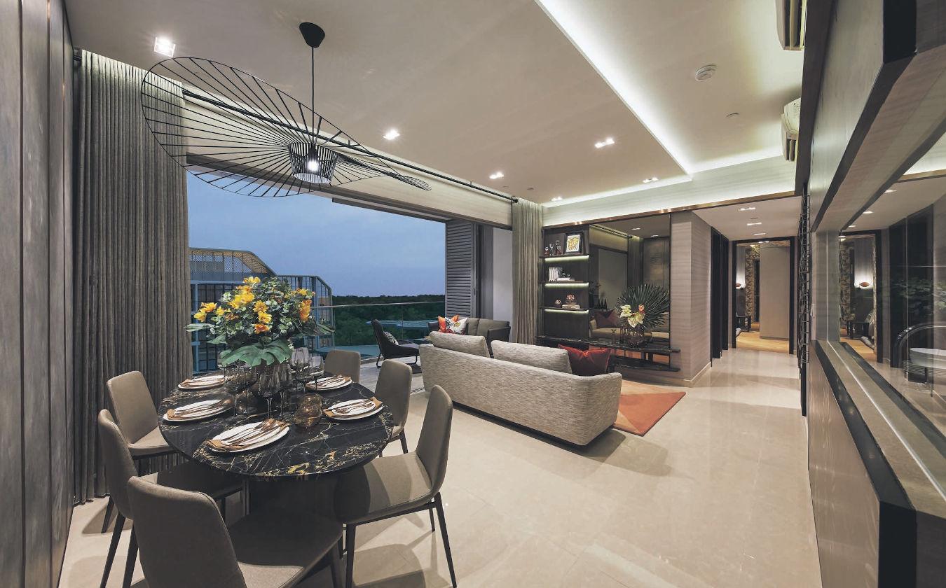 The Gazania Showflat . Living & Dining Room