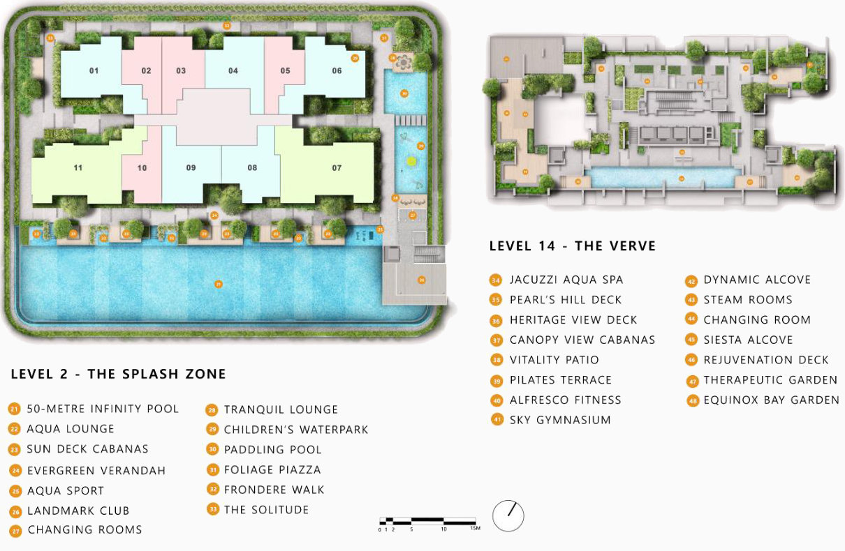 The Landmark Condo Site Plan . Level 2 and 14
