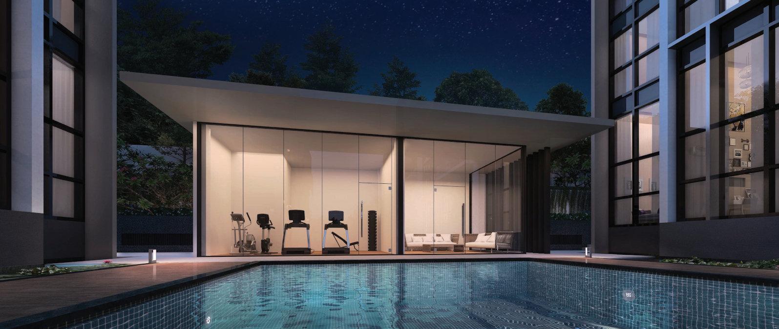 The Lilium Condominium . Gym & Pool