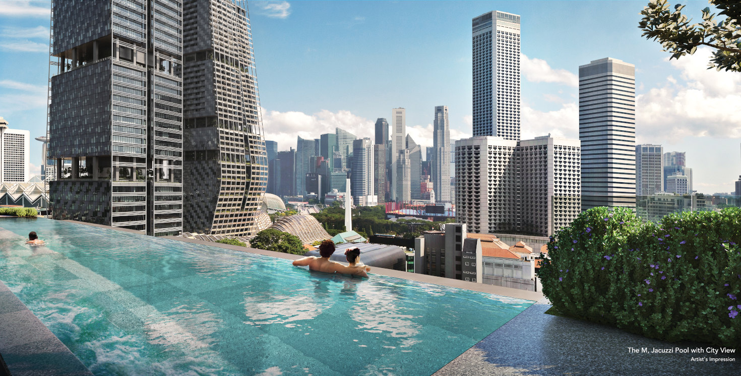 The M Condominium . Jacuzzi Pool with City View