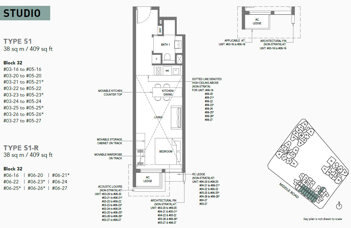 The M Floor Plan . Studio Unit