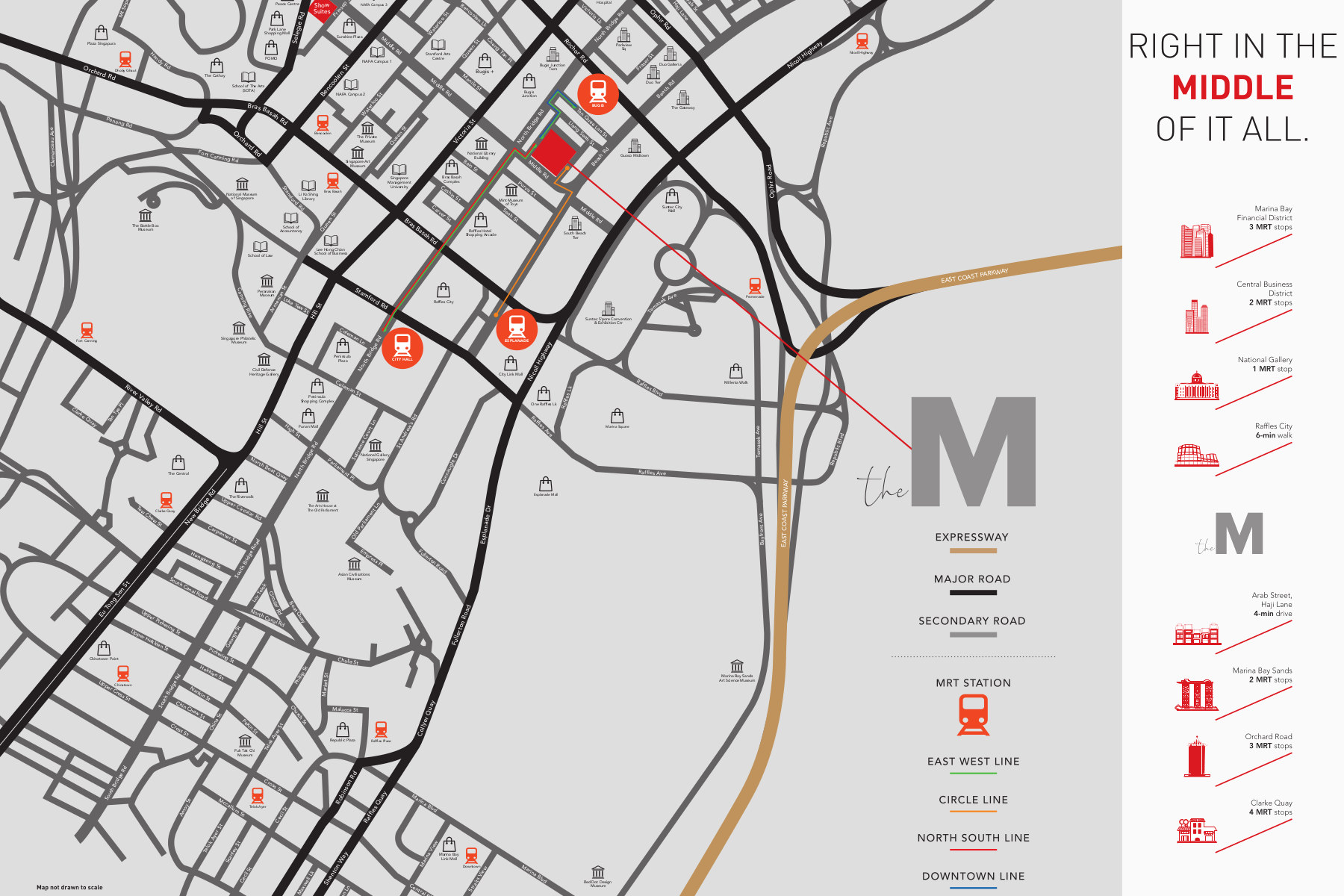 The M Location Map