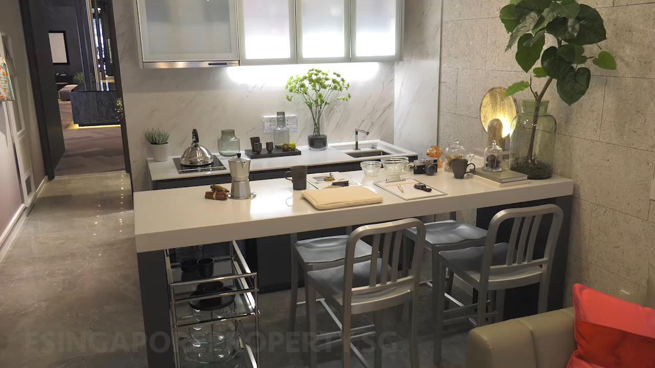 The M Showflat . Studio Kitchen