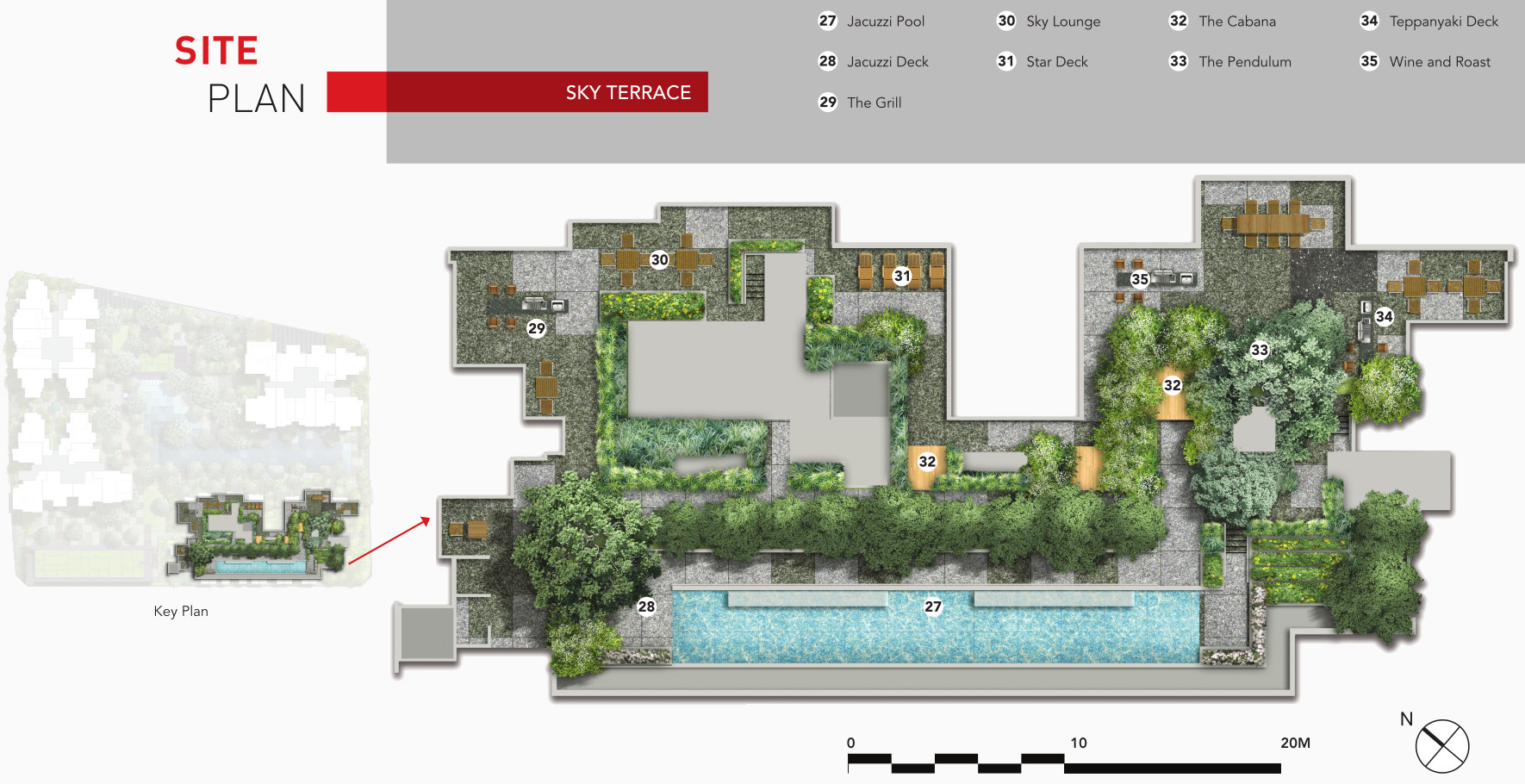 Site Plan . Sky Terrace