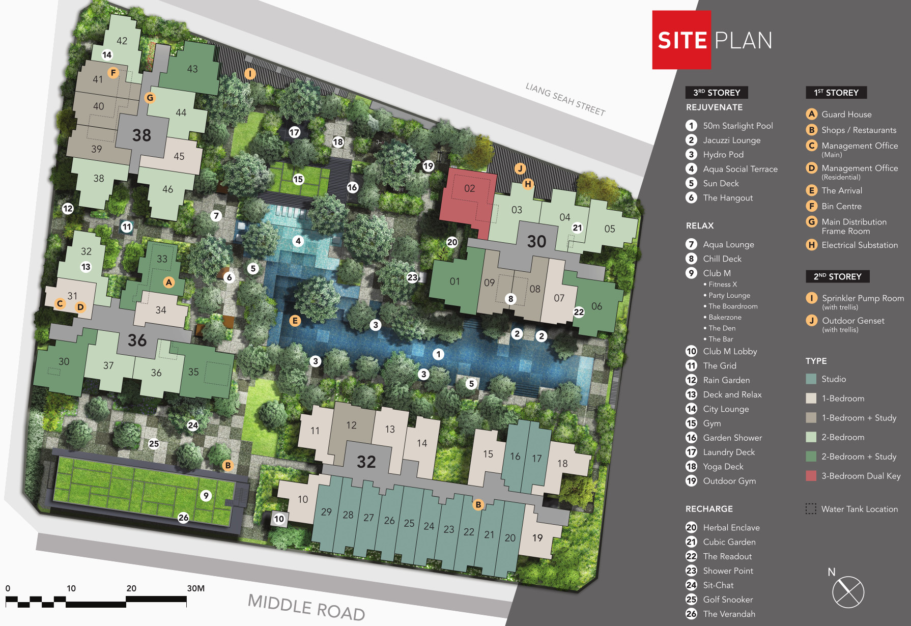 The M Condominium . Site Plan Layout