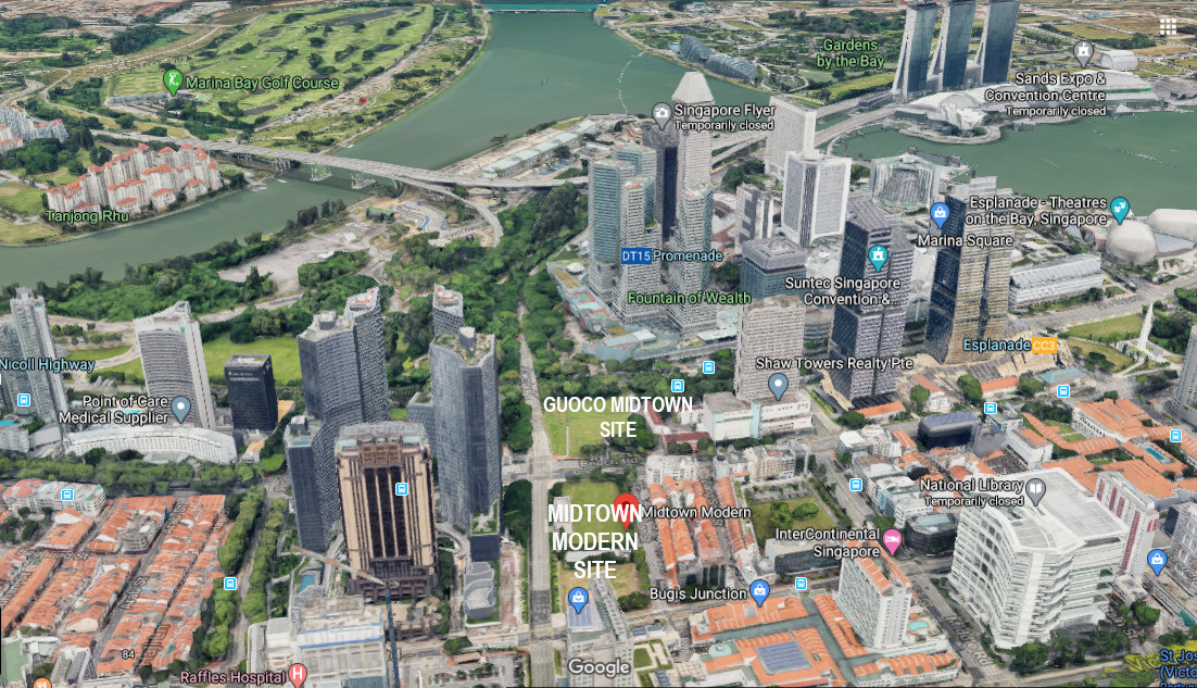 The Midtown Modern Singapore . View