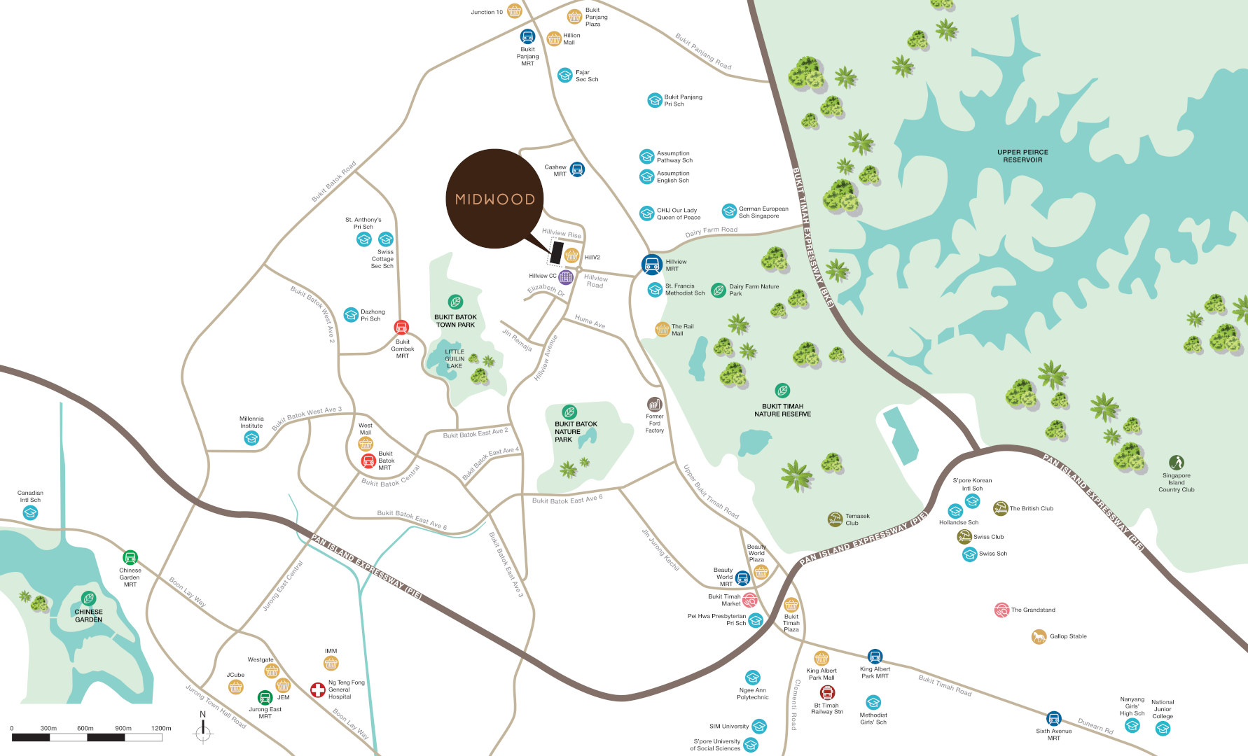 The Midwood Location Map