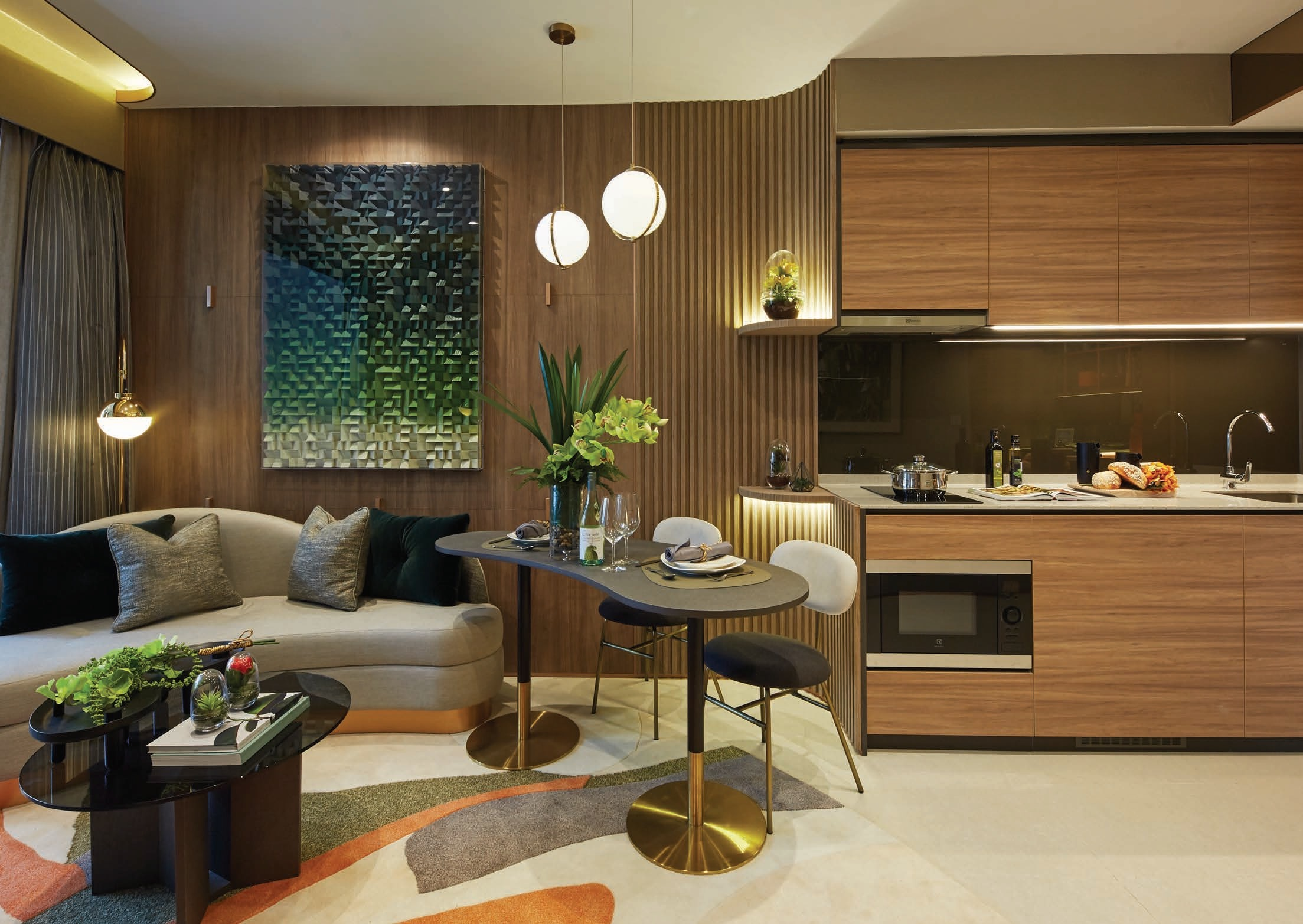 The Midwood Showflat . Living Dining