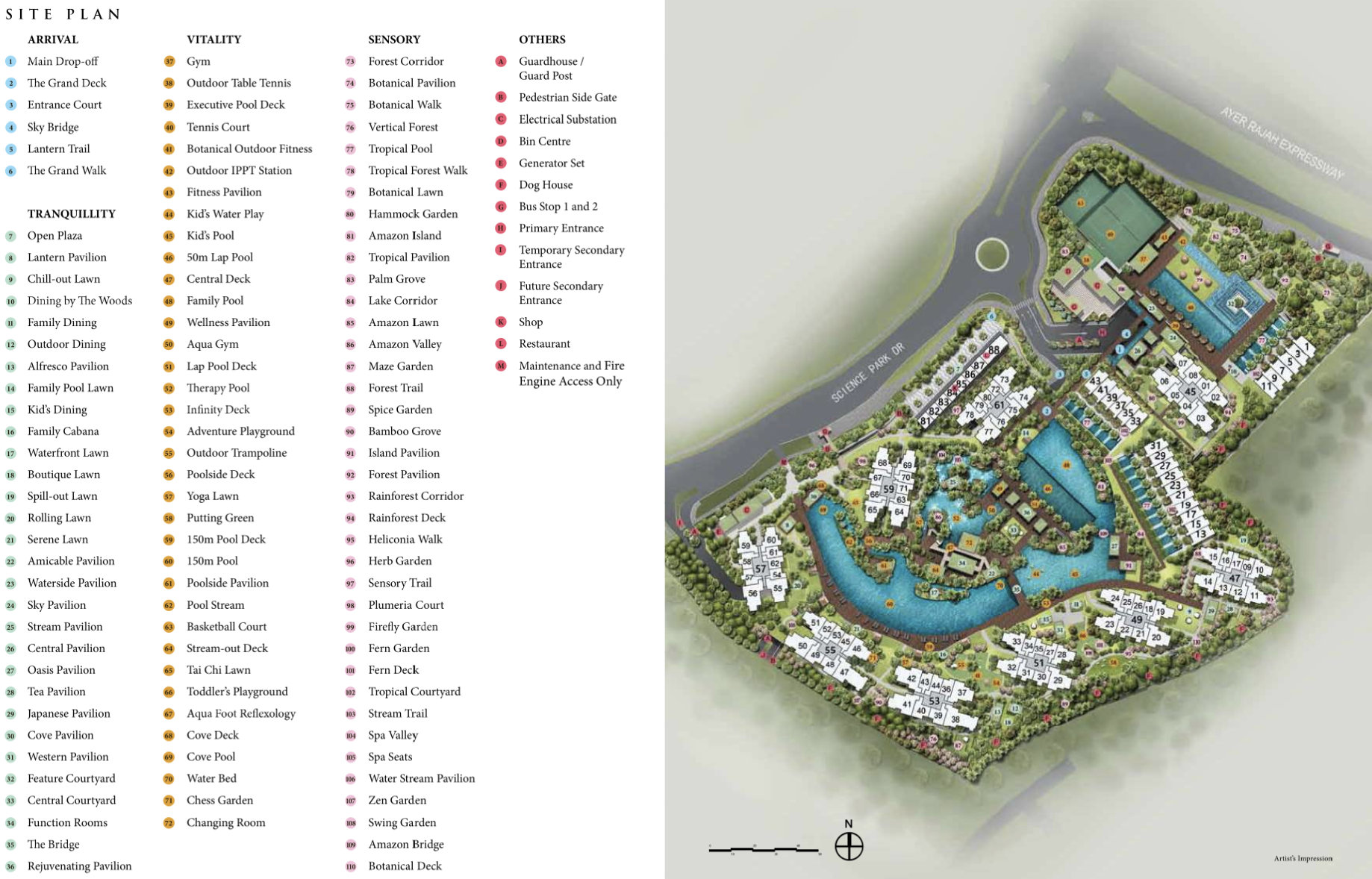 The Normanton Park Site Plan . Click to Enlarge