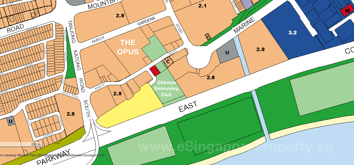 The Opus Site Plan Frontages