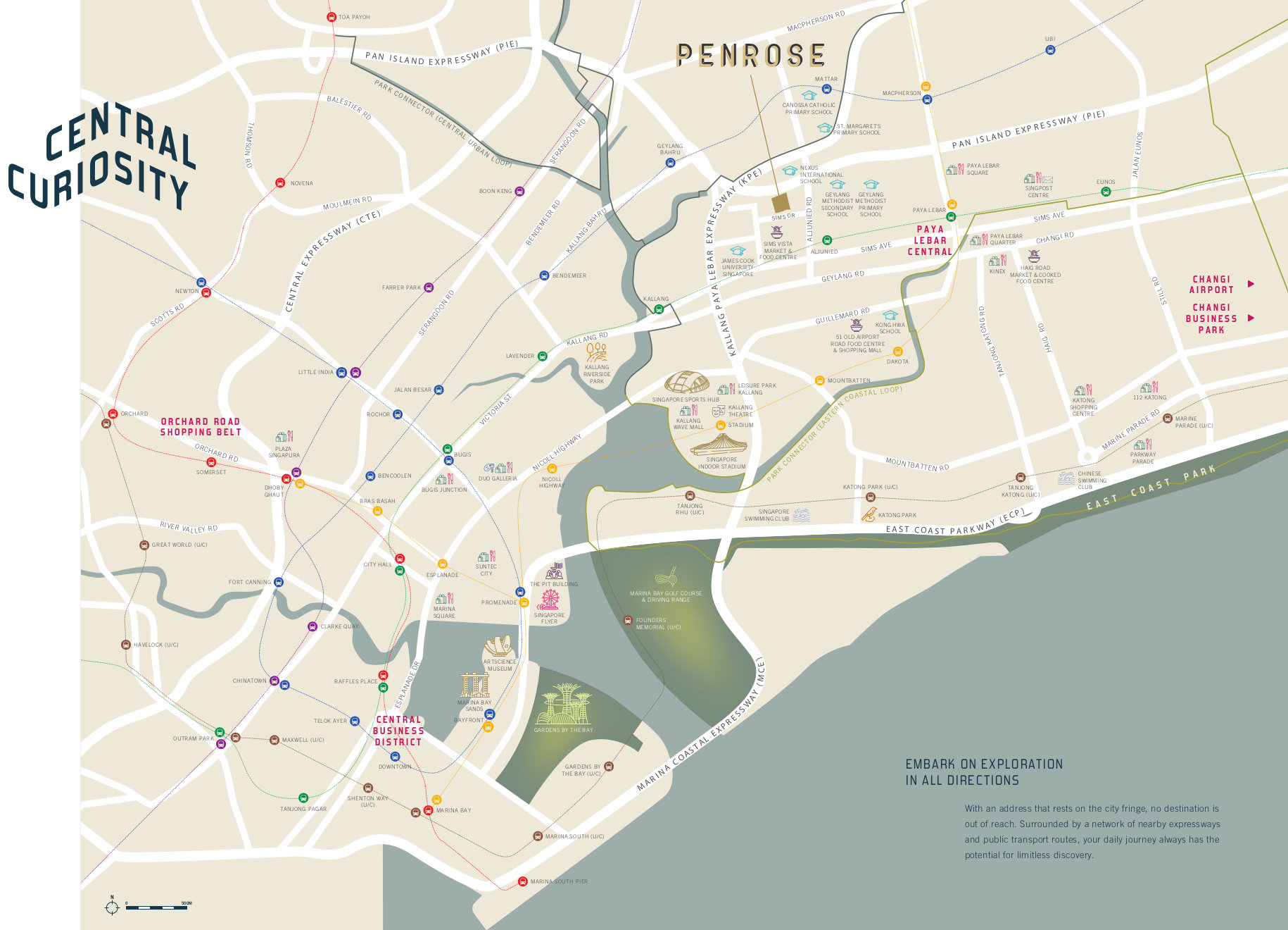 The Penrose Location Map & Amenities