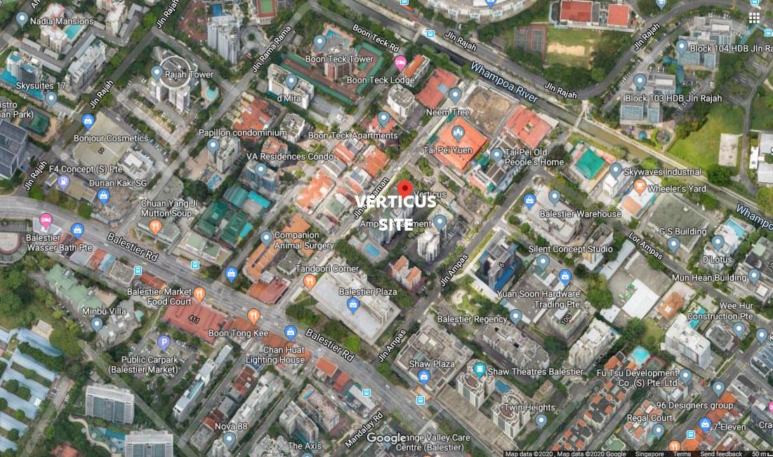 The Verticus Condominium Site Location