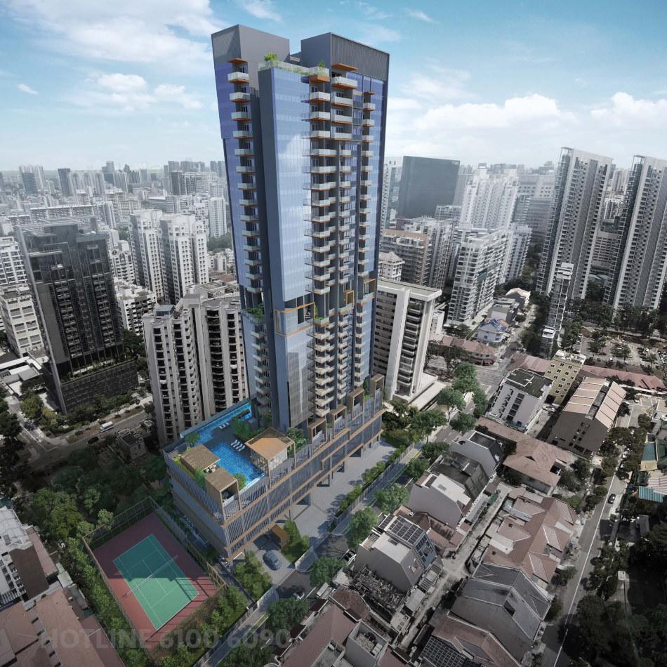 The Verticus Condominium . Aerial View