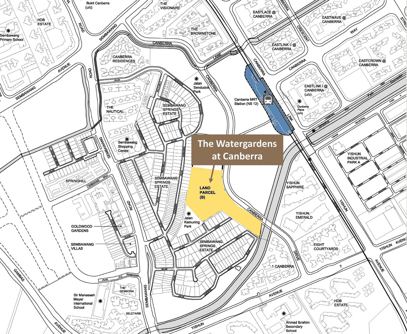 The Watergardens Canberra . Site Location Plan