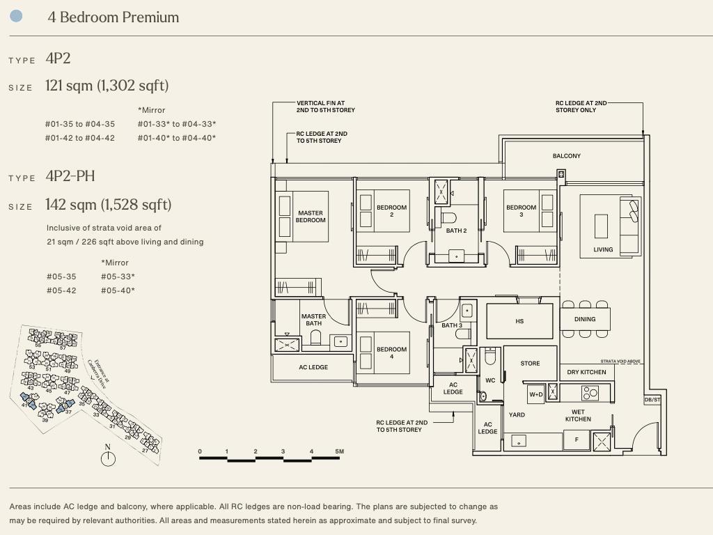 The Watergardens Condo Floor Plan . 4 Bedroom Premium Type 4P2