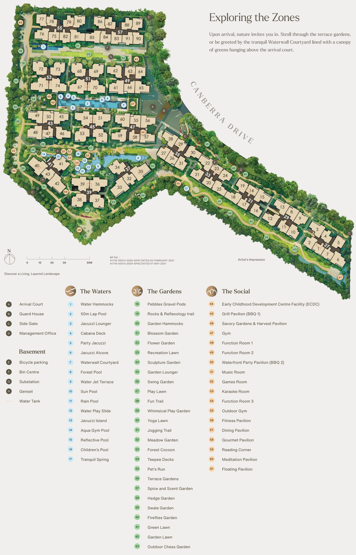 The Watergardens Site Plan with Legend