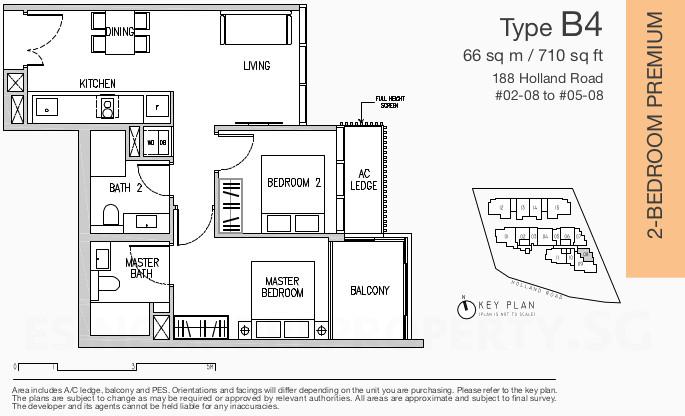 Van Holland Floor Plan . 2 Bedroom Premium Type B4